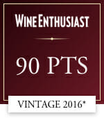 wine enthusiast 90 points vintage 2016*