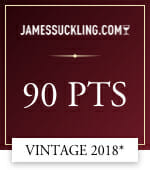 james suckling .com 90 points vintage 2018*