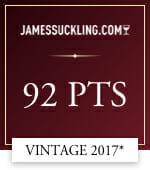 james suckling .com 92 points vintage 2017*