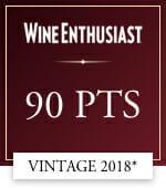 wine enthusiast 90 points vintage 2018*